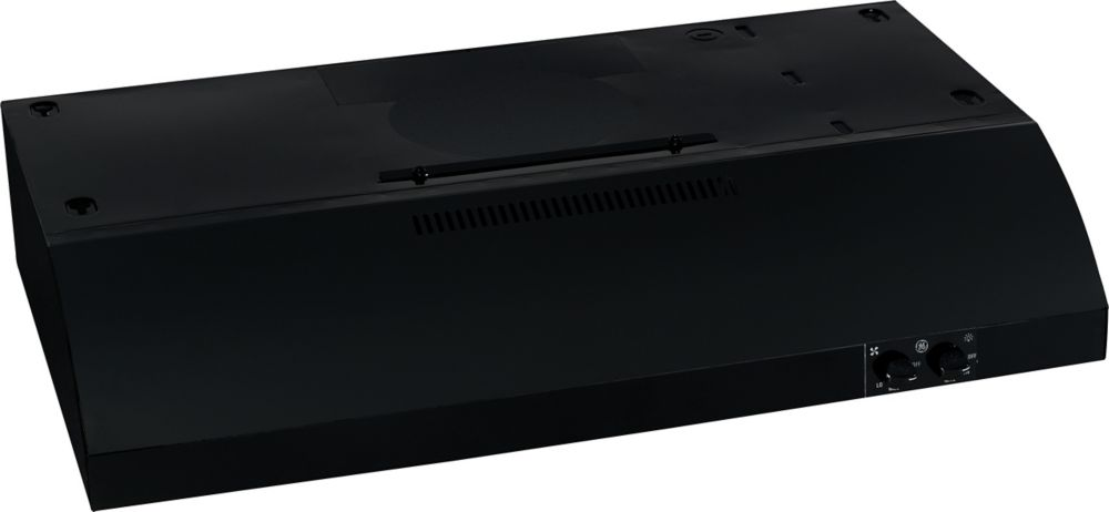 Deluxe 30-inch Under Cabinet Range Hood in Black on Black