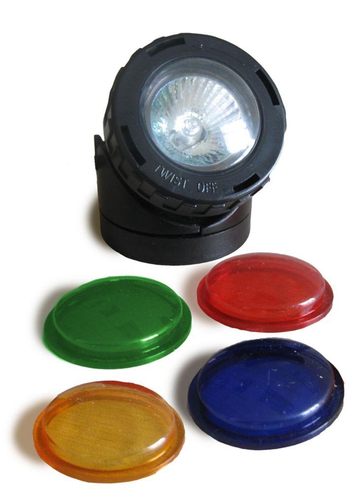 10-watt Pond/Fountain Halogen Spotlight with coloured lenses