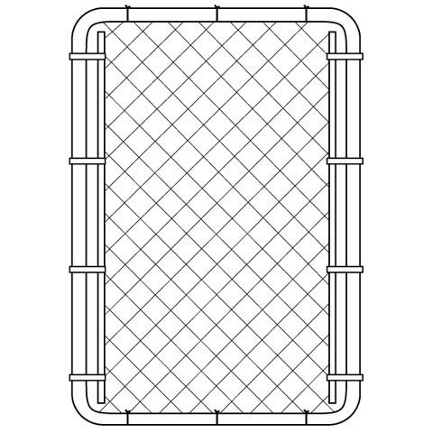 Chain Link Gate - 60 Inch Tall X 40 Inch Wide - Black