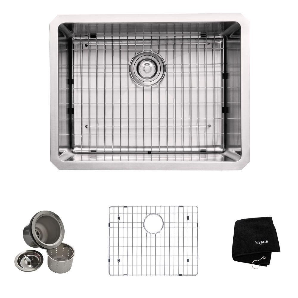 ... Bowl 16 gauge Stainless Steel Kitchen Sink The Home Depot Canada