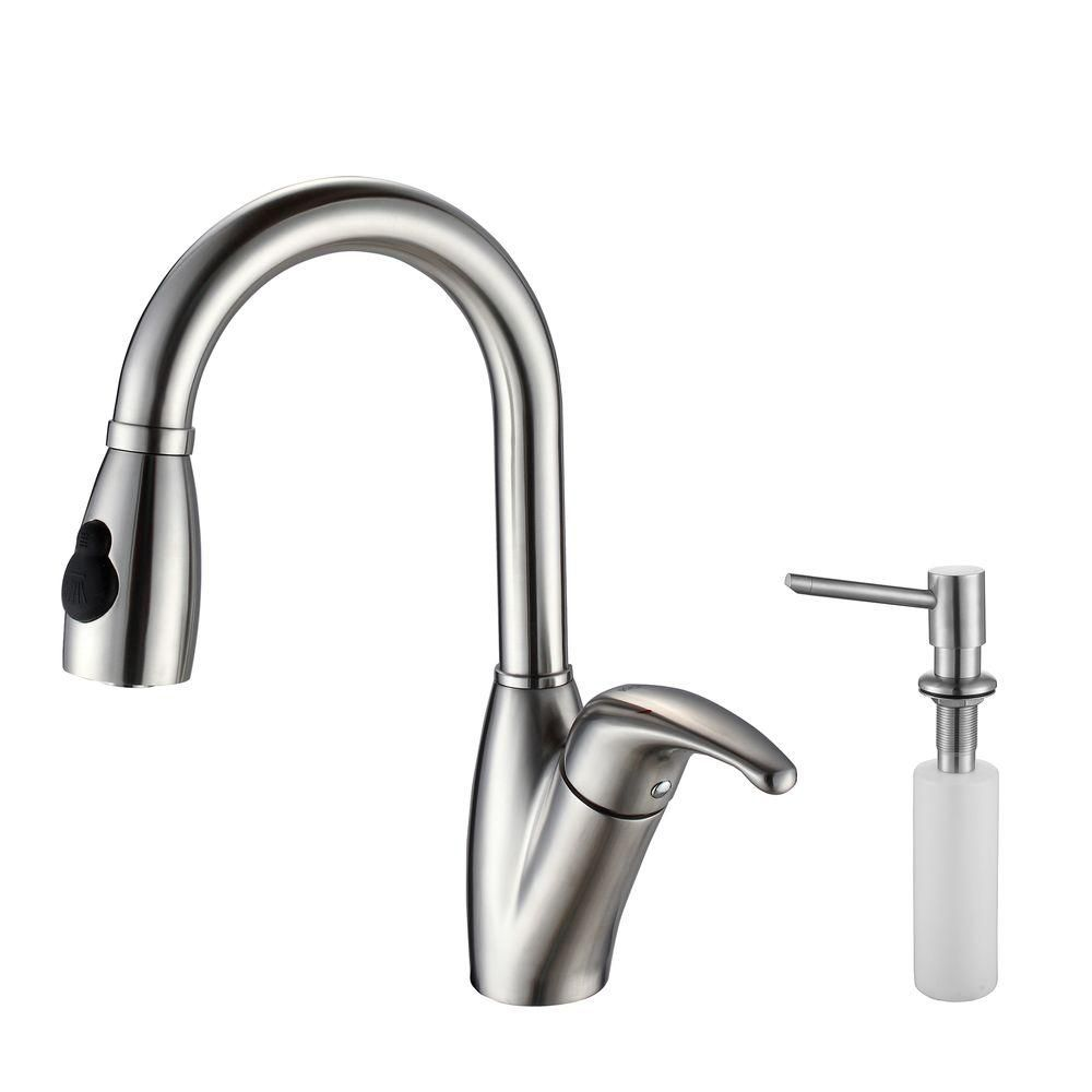 kitchen faucets stainless steel pull out kraus single lever stainless steel pull out kitchen faucet 24694