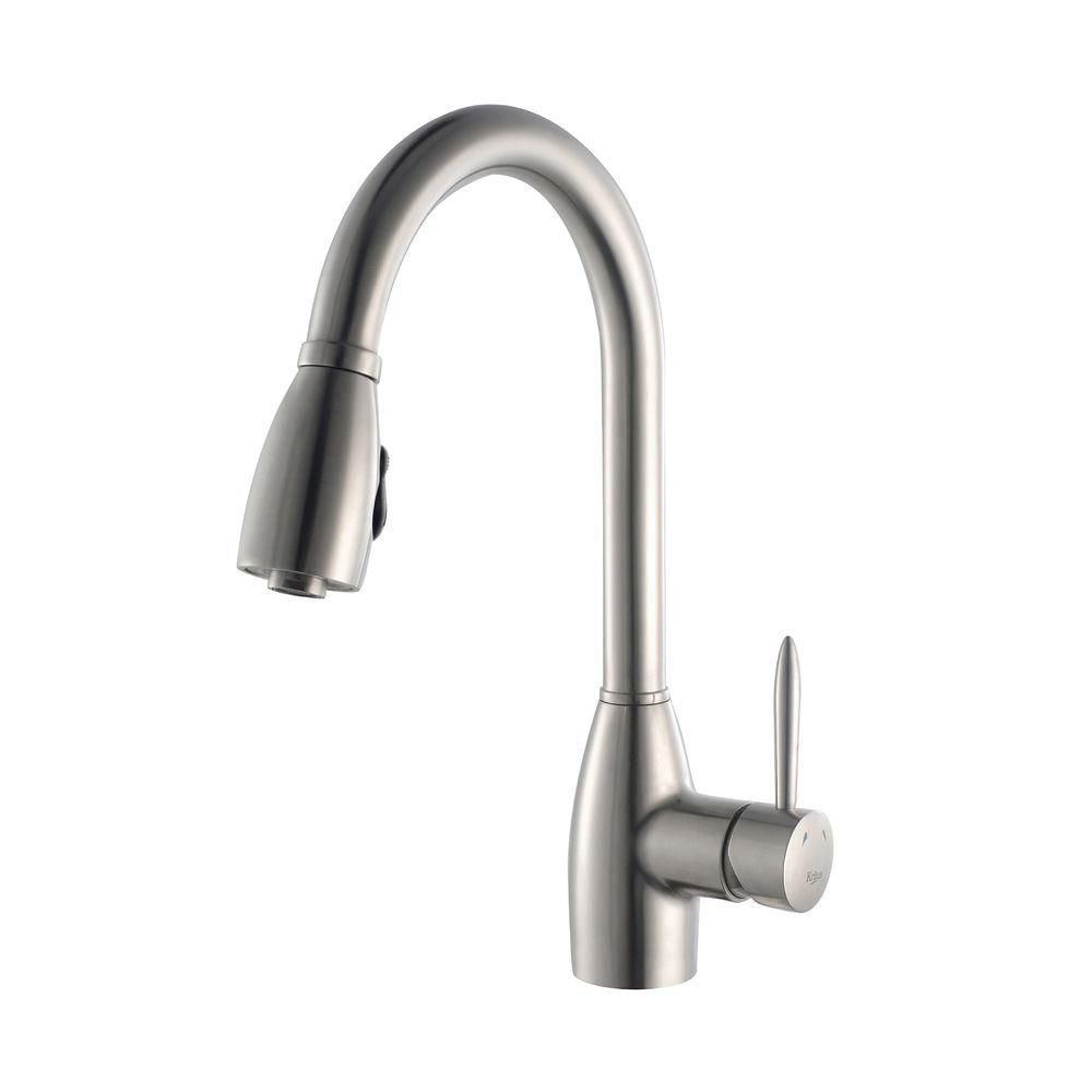 Single Lever Stainless Steel Pull Out Kitchen Faucet