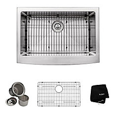 30 Inch Farmhouse Apron Single Bowl 16 gauge Stainless Steel Kitchen Sink