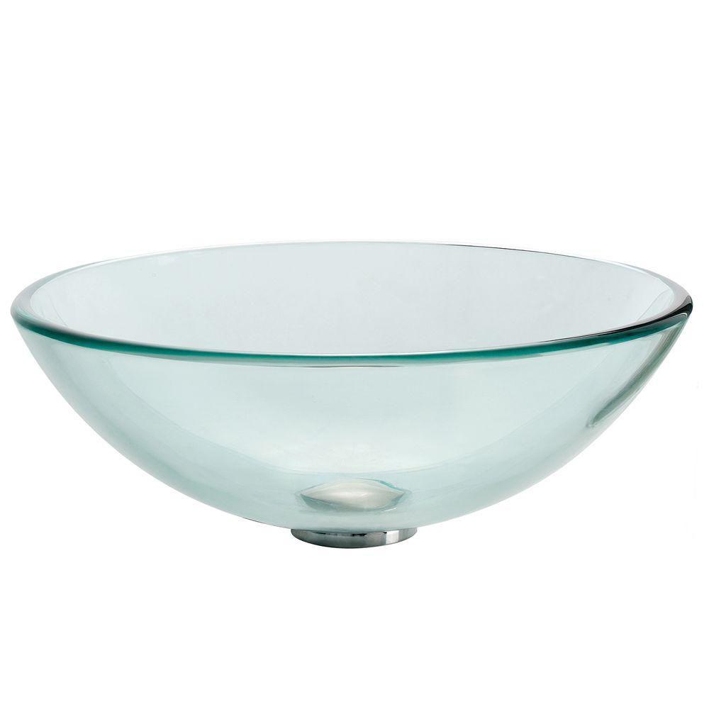 Lavabo-vasque en verre transparent