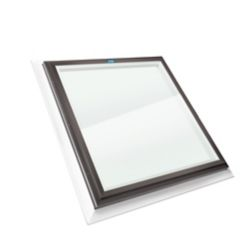 Columbia Skylights 2ft x 2ft Fixed Self Flashing LoE3 Double Glazed Clear Glass Skylight with Brown Frame