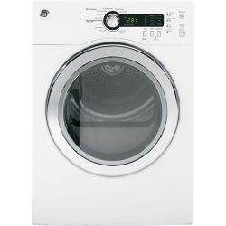 GE 4.0 cu. ft. Front Load Electric Dryer in White