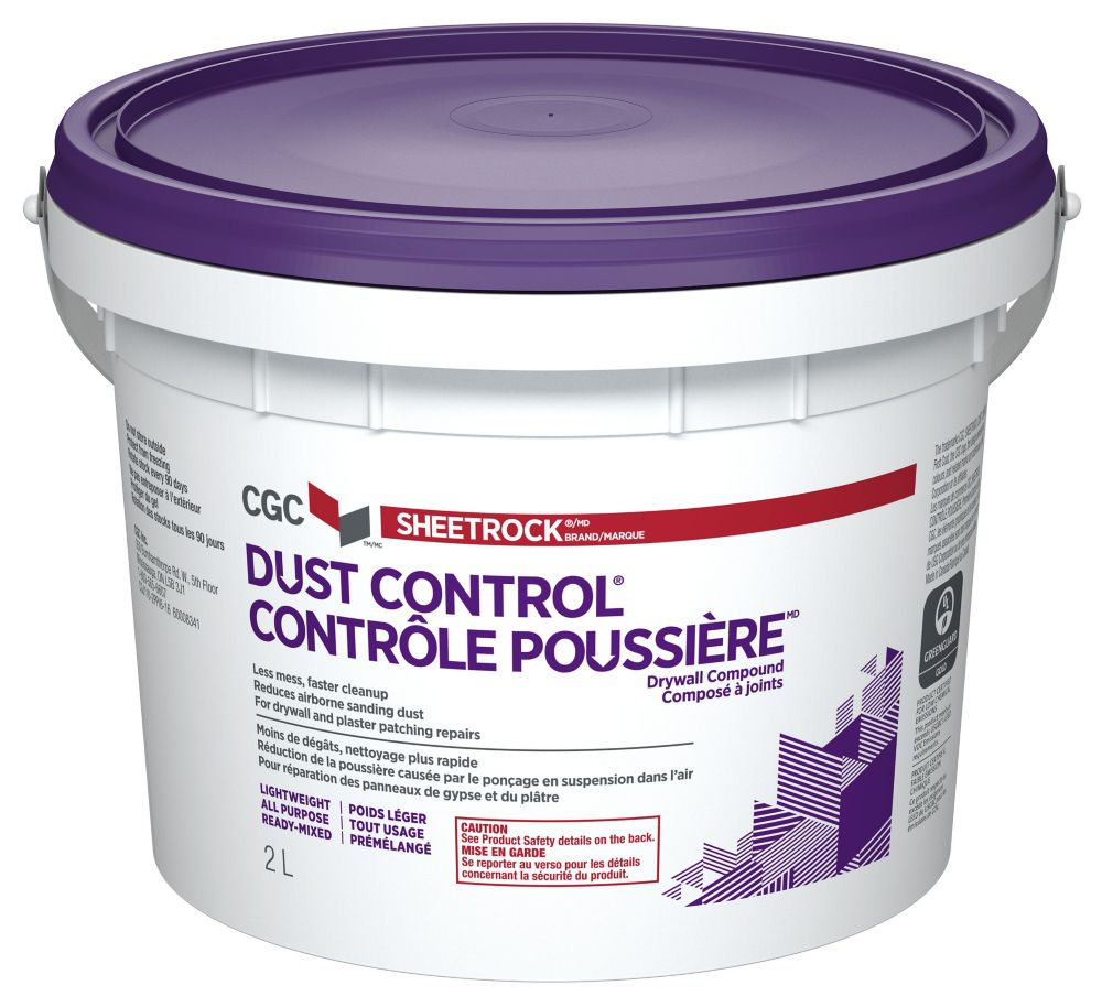 Dust Control Drywall Compound, Ready Mixed, 2.1 kg Pail