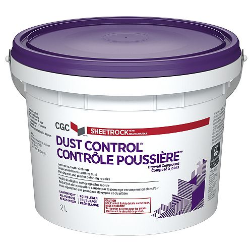 Sheetrock CGC Dust Control Drywall Compound, Ready-Mixed, 2 L Pail
