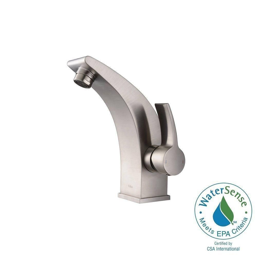 Illusio Single-Lever Basin Bathroom Faucet in Brushed Nickel Finish
