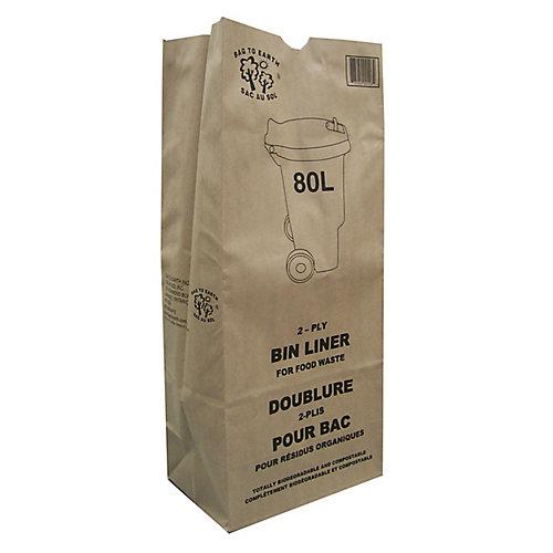 2-Ply Kraft Paper 80L Bin Liner (10-Pack)