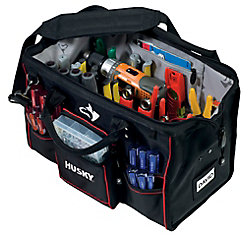 HUSKY 18-inch Large Mouth Tool Bag