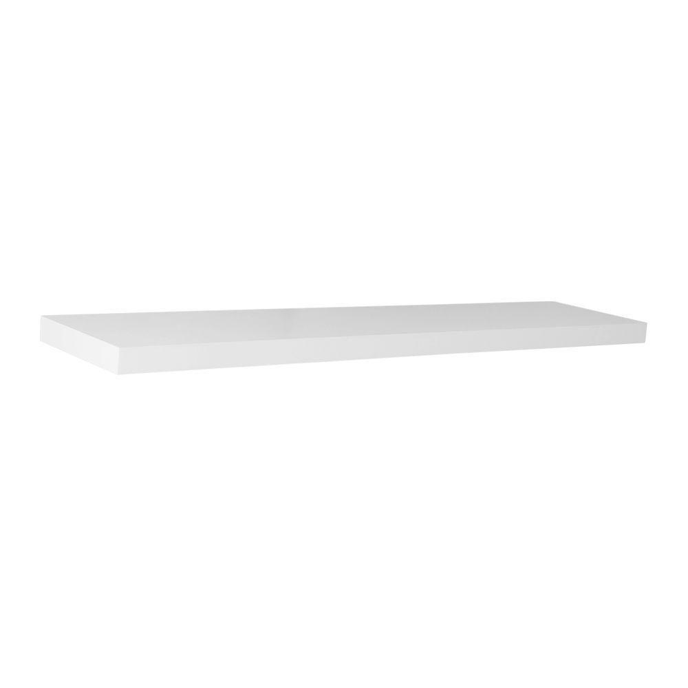 Floating Shelf, White - 36 Inch