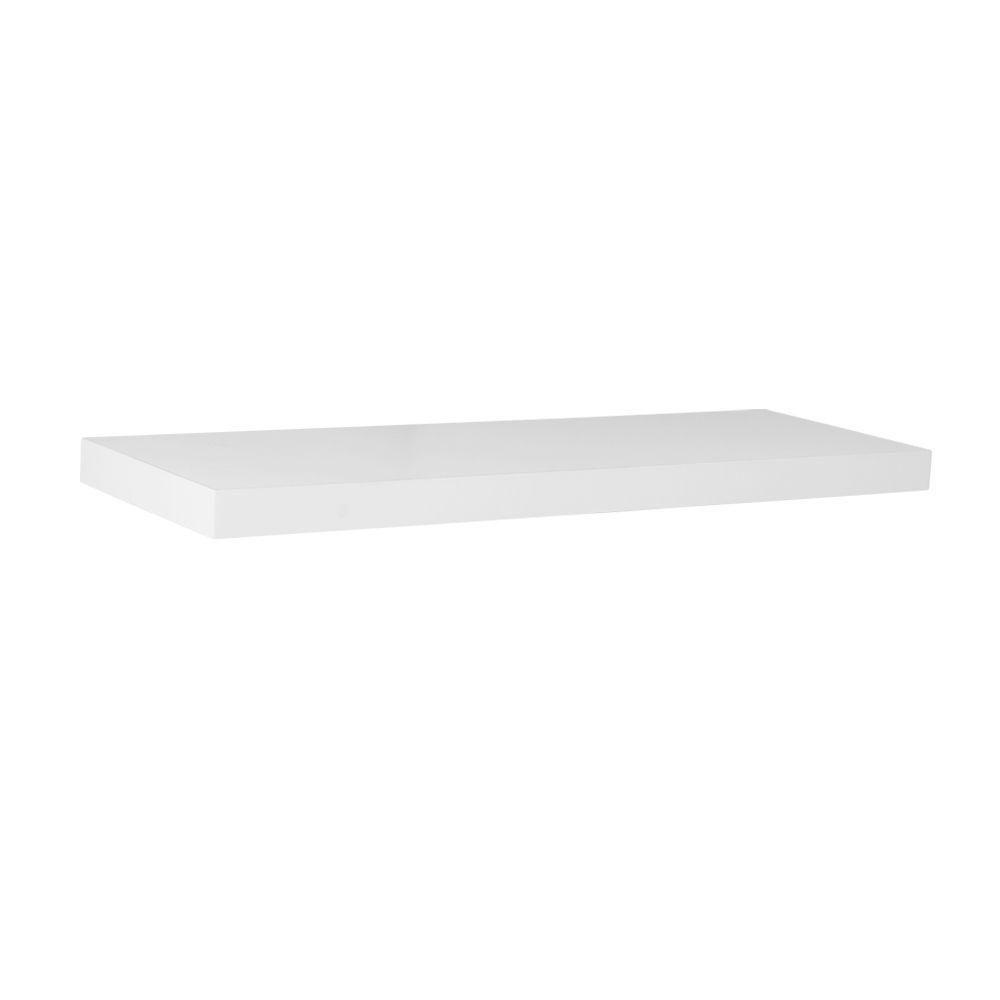 Floating Shelf, White - 24 Inch