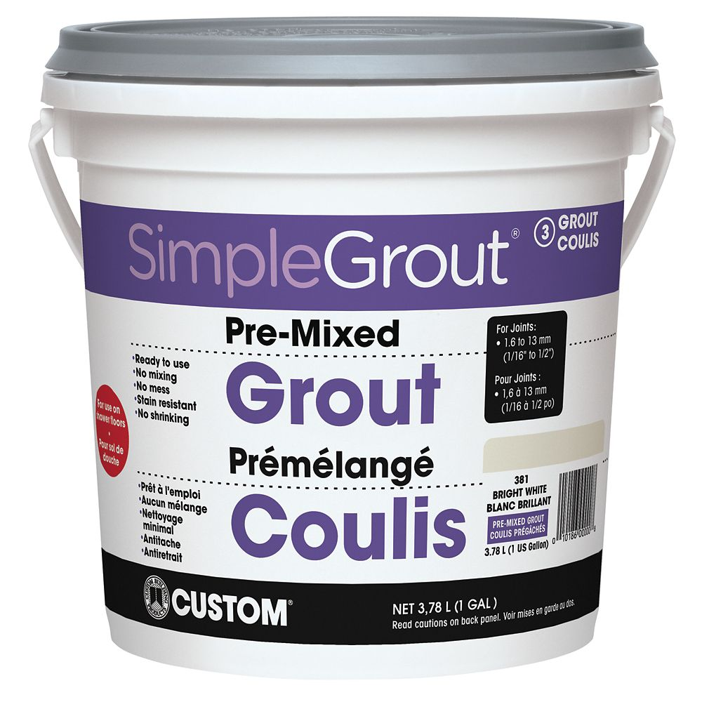 #381 Bright White - Pre-Mixed Grout 3.9L