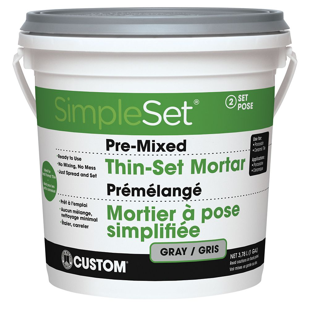 PreMixed Tile Thin-Set Gray - 3.9L CCTTSG1 Canada Discount