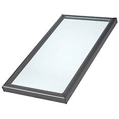 22-1/2-inch x 46-1/2-inch Fixed Curb-Mount Skylight with Tempered Low-E3 Glass