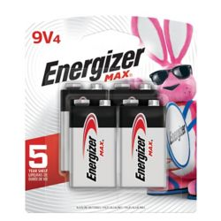 Energizer Max 9-Volt Battery - (4-Pack)