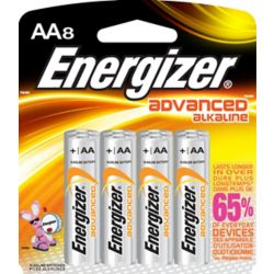 Energizer Advanced Alkaline AA Battery- (8-Pack)