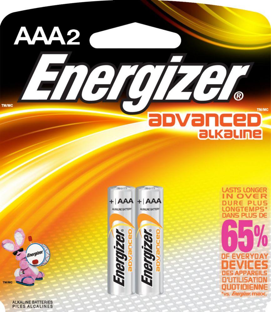 Energizer Advanced Alkaline AAA Battery - 2 Pack