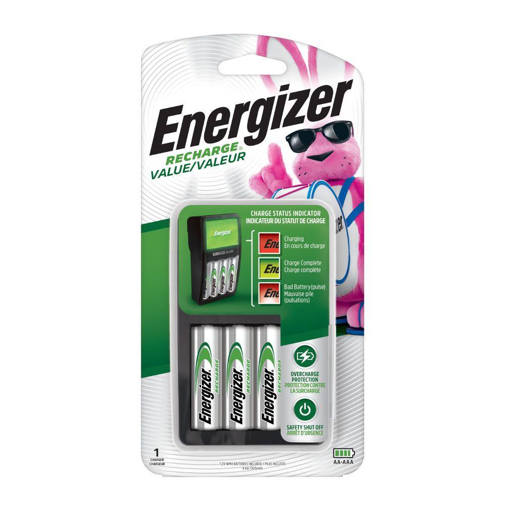 Chargeur valeur incluant 4 piles AA