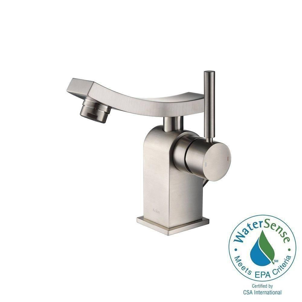 Unicus Single-Lever Basin Bathroom Faucet in Brushed Nickel Finish