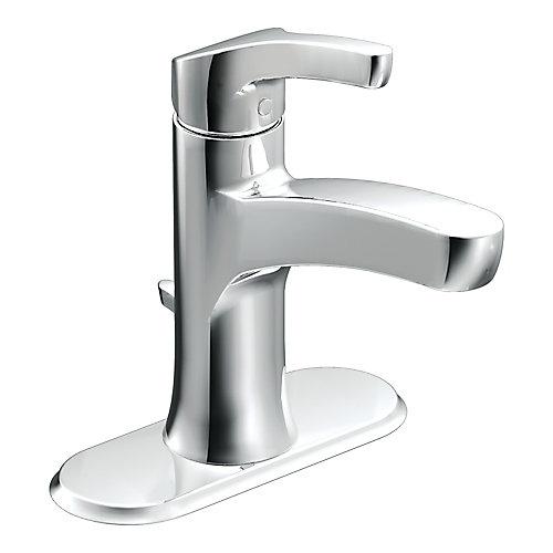 Robinet de salle de bains Danika à une poignée en chrome à arc élevé