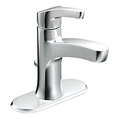 Danika Chrome One-Handle High Arc Bathroom Faucet