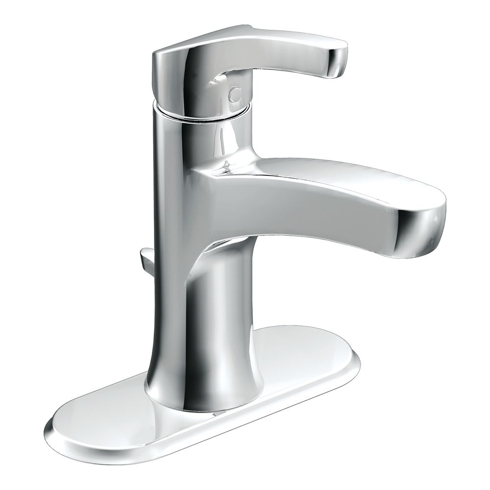 Danika Single-Handle Bathroom Faucet in Chrome Finish