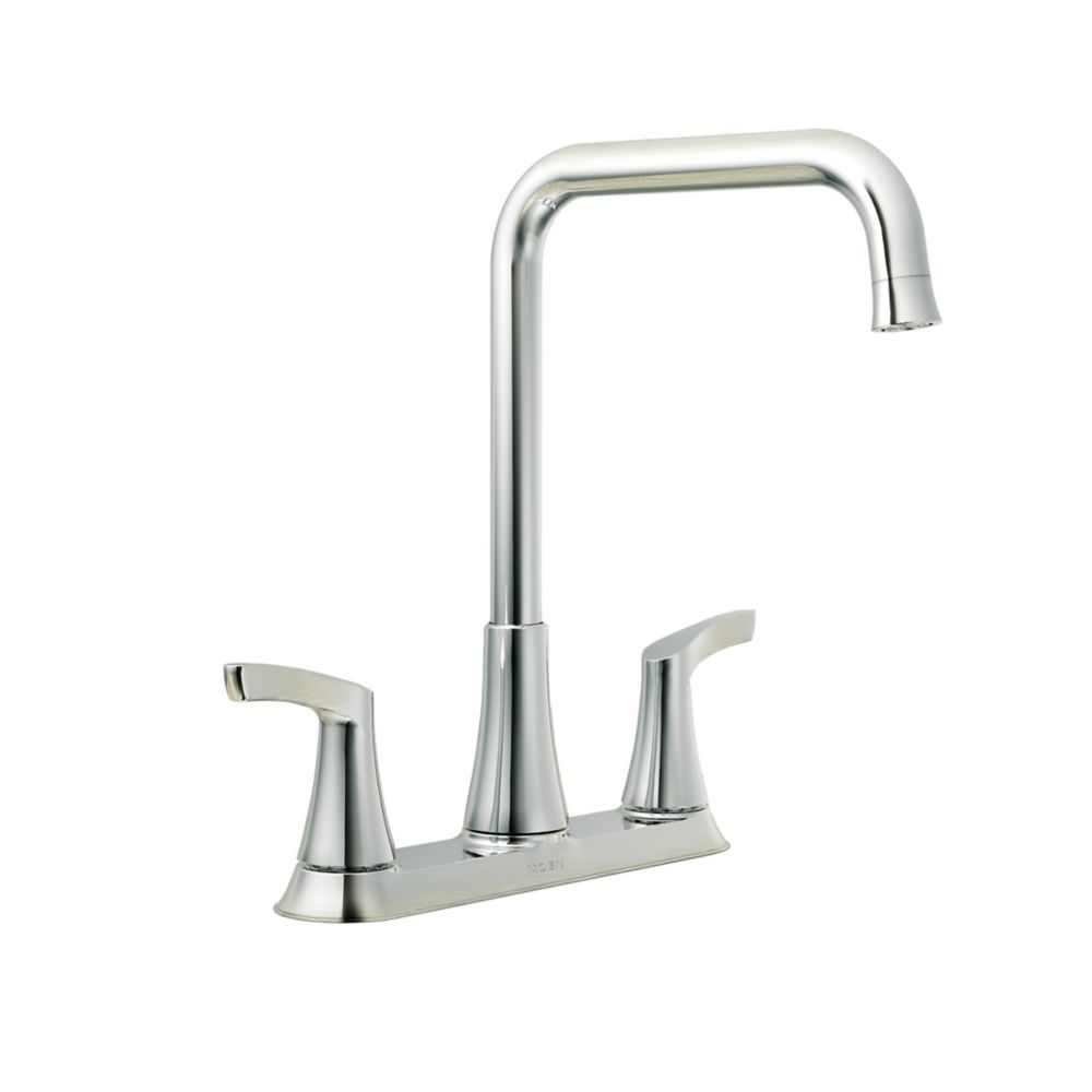 moen kitchen faucets home depot moen danika 2 handle kitchen faucet chrome finish the 25238