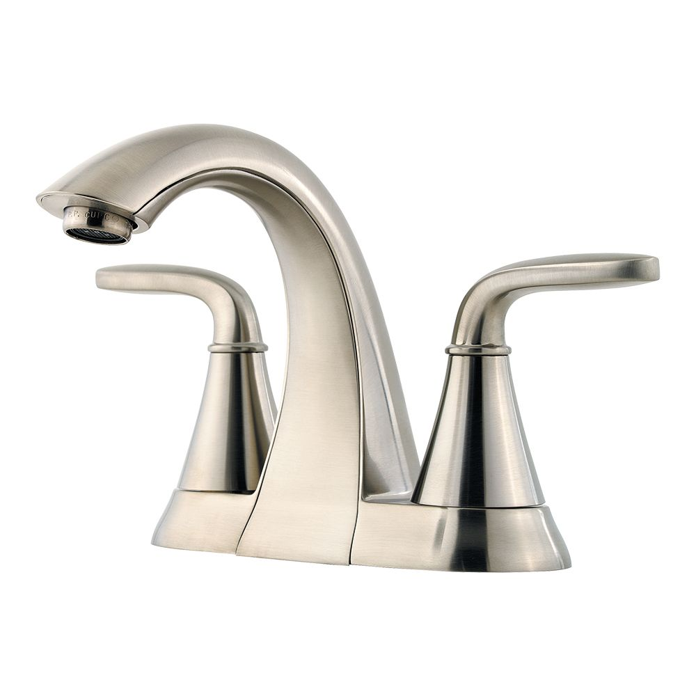 Pfister Pasadena 4 Inch Centreset Bathroom Faucet In Nickel Finish The Home Depot Canada