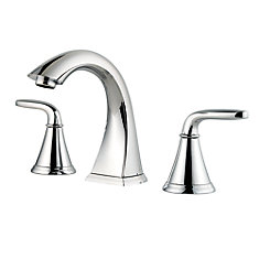 Pasadena Widespread (8-inch) 2-Handle Mid Arc Bathroom Faucet in Chrome with Lever Handles