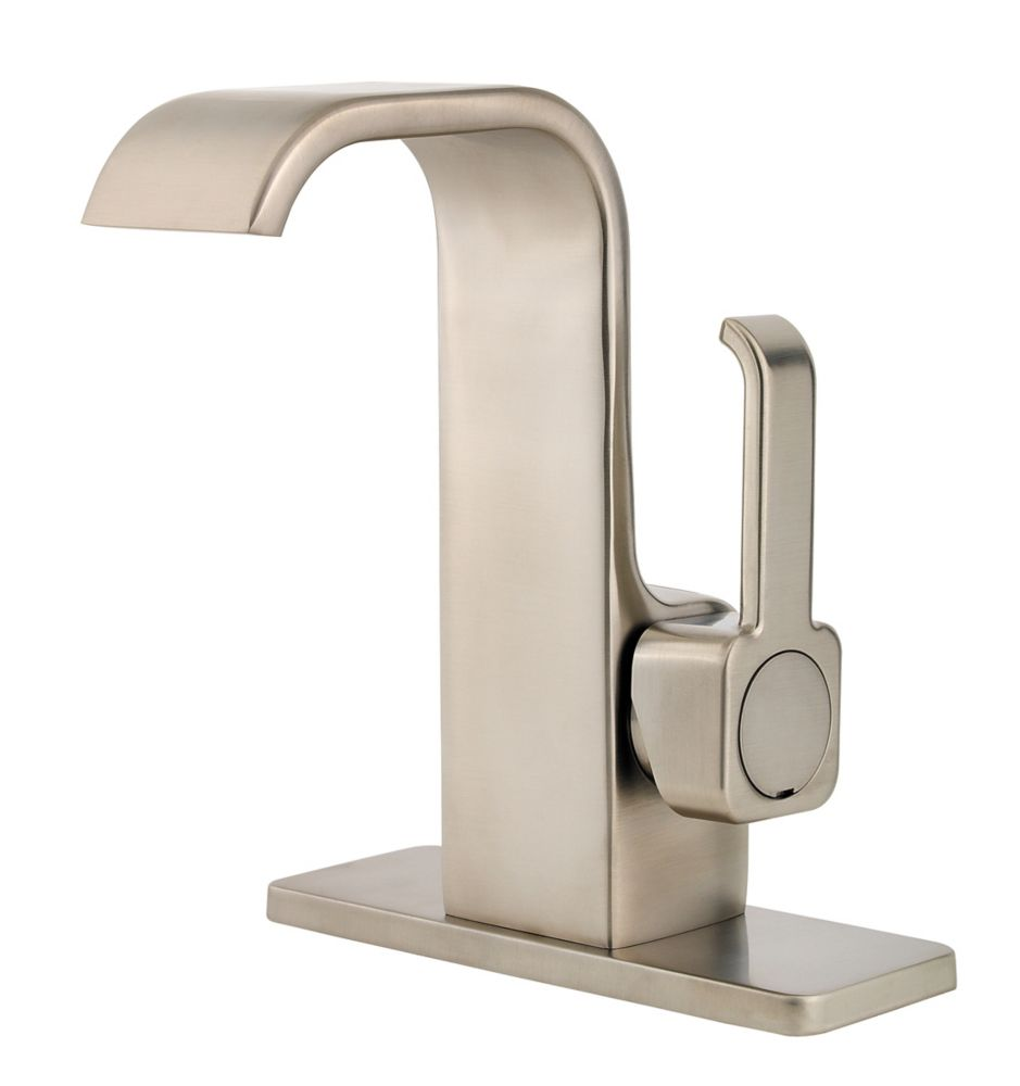 Skye Single-Control Bathroom Faucet in Nickel Finish
