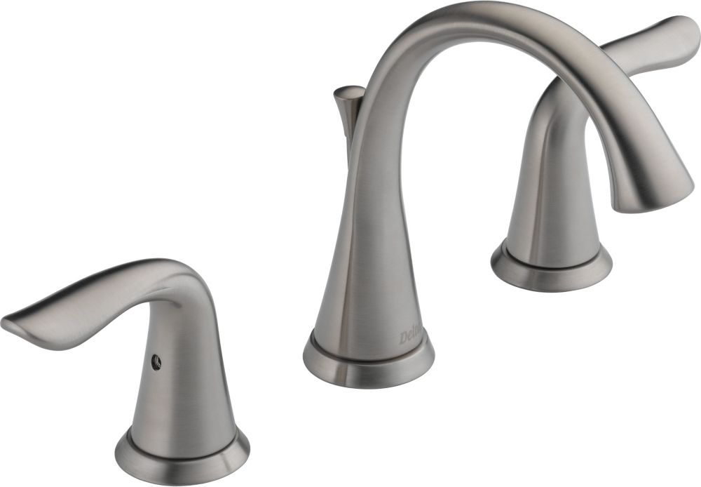 Lahara Widespread 2-Handle Bathroom Faucet in Stainless Steel Finish