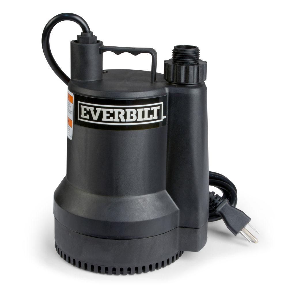 Everbilt 1/6 HP Portable Submersible Utility Pump