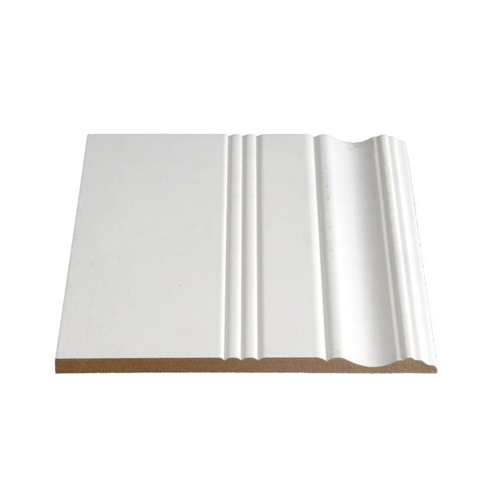 Plinthe en MDF avec peinture DecoSmart 3/8 po x 7-3/8 po (Prix par pied)