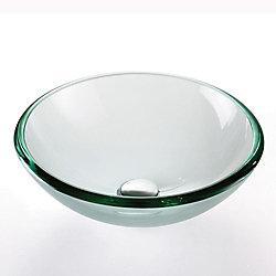 Kraus Lavabo-vasque en verre transparent de 19 mm d'épaisseur