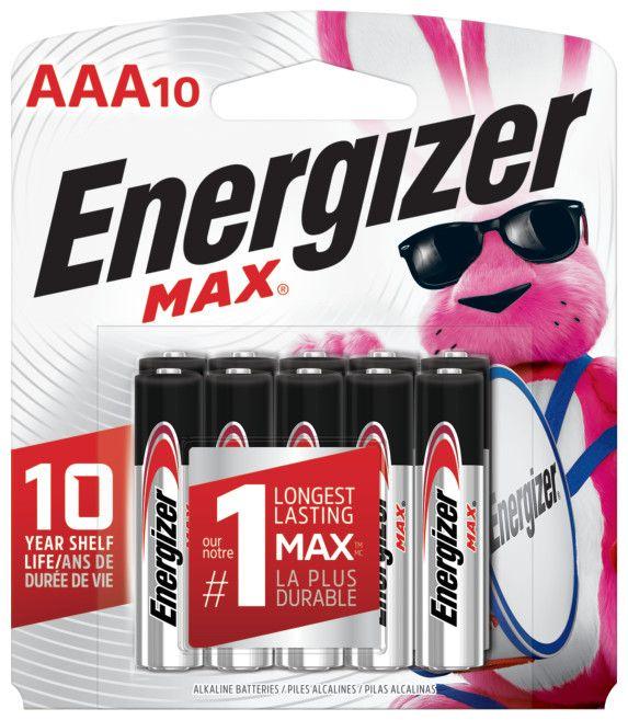 Pile Max AAA - paquet de 10