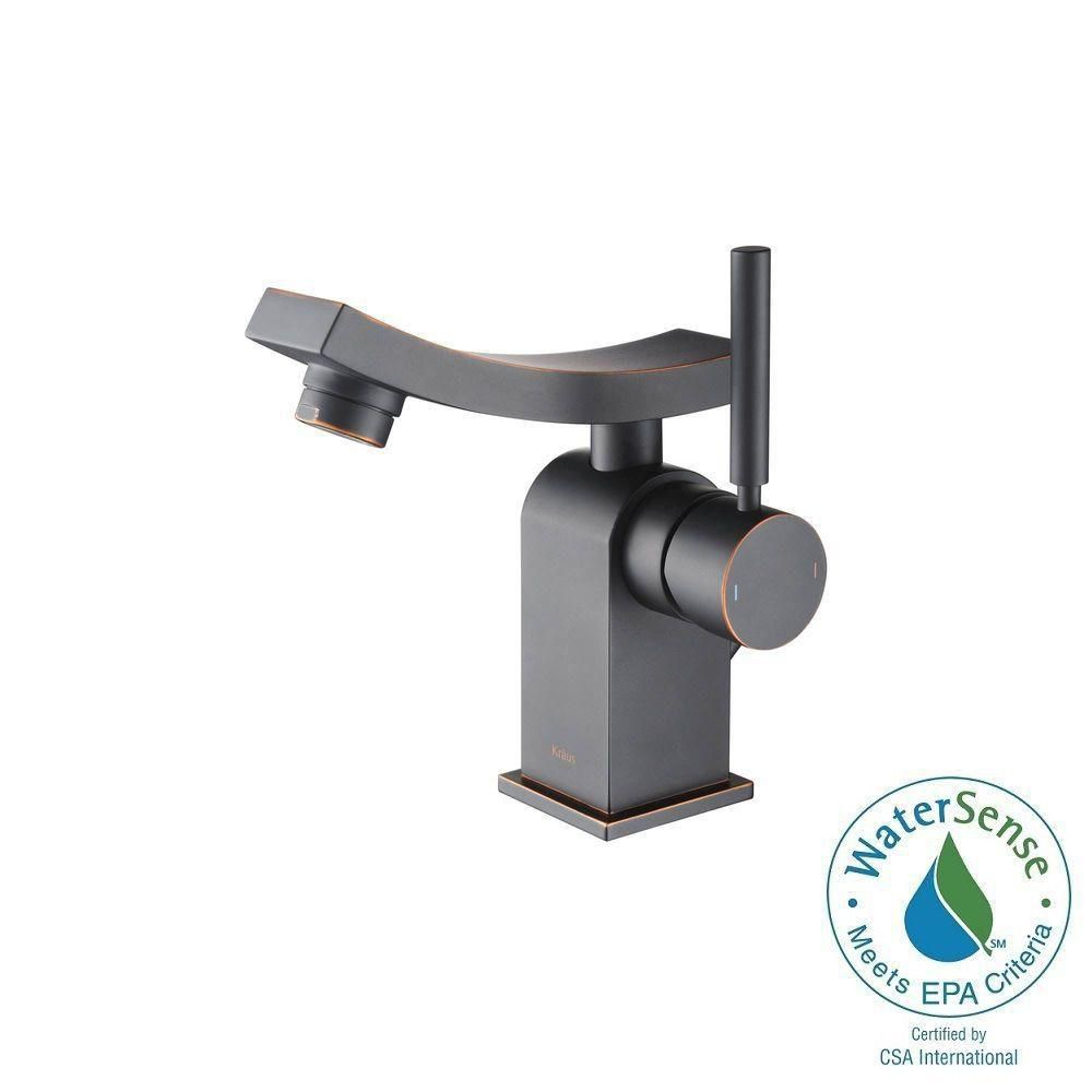 Unicus Single-Lever Basin Bathroom Faucet in Oil Rubbed Bronze Finish