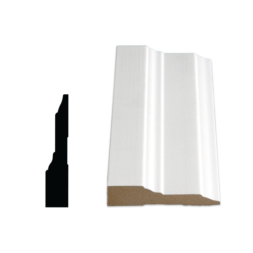 Painted Fibreboard Casing 3/4 Inches x 3-1/2 Inches x 96 Inches