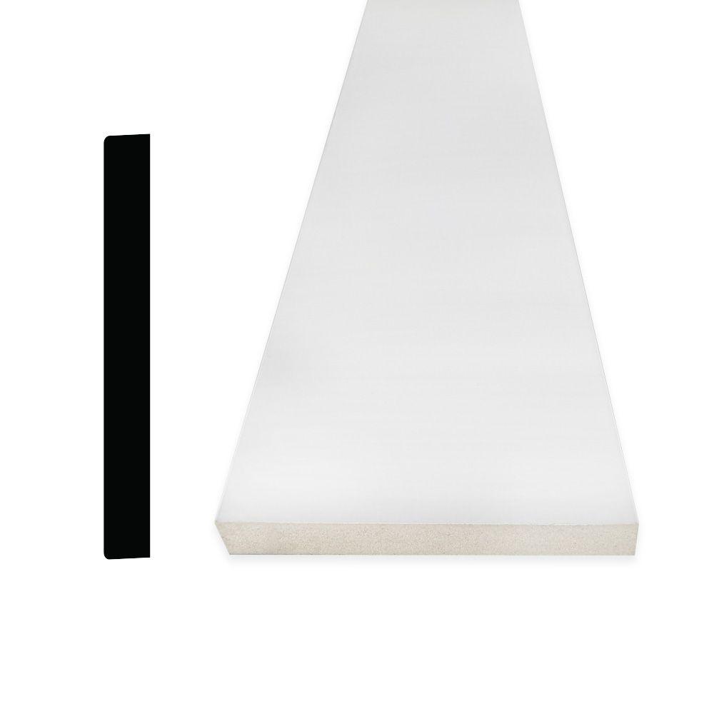 Alexandria Moulding  Plinthe en MDF avec peinture DécoSmart 1/2 po x 3-1/2 po x 8 pi