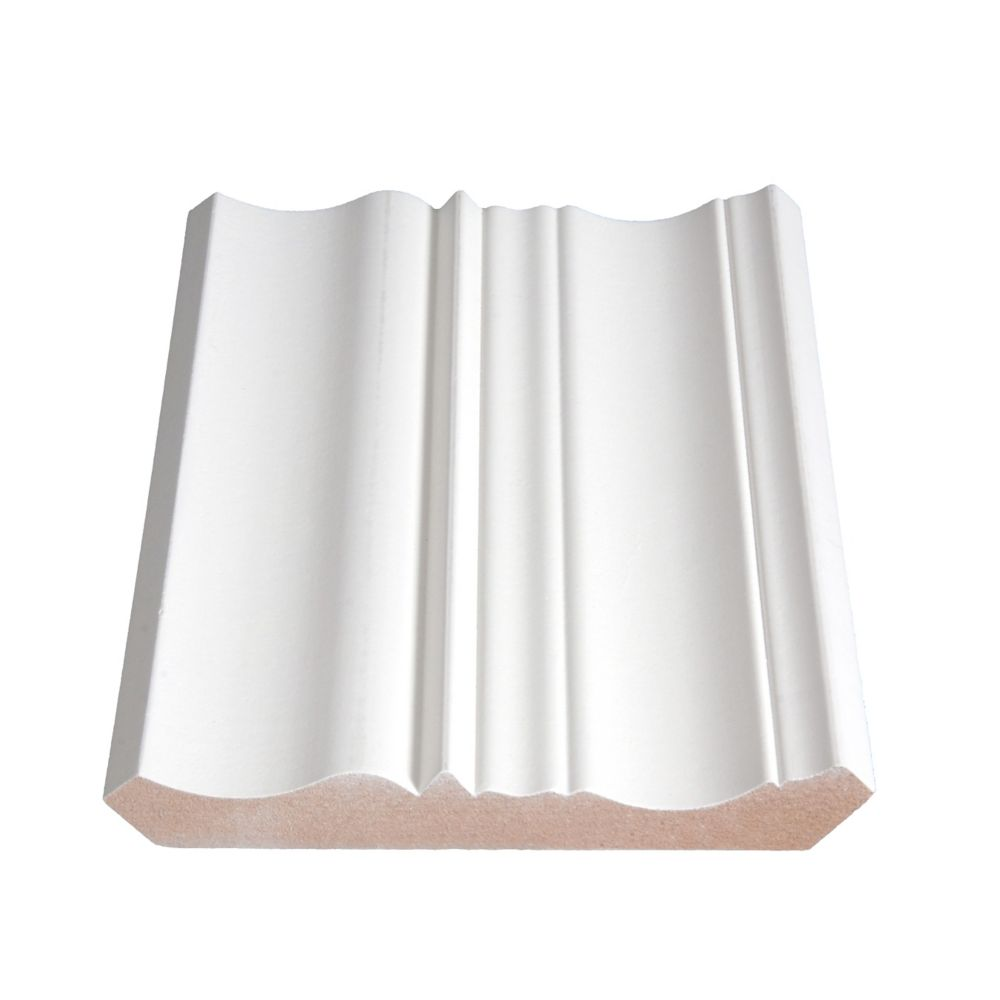 Painted Fibreboard Crown 3/4 Inches x 5-15/16 Inches (Price per linear foot)