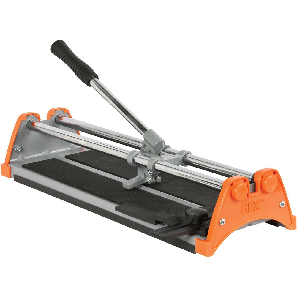 Hdx 14 Inch Manual Tile Cutter With 7 8 Inch Cutting Wheel The Home Depot Canada