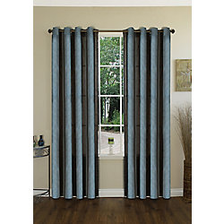 Habitat Strike It Up Curtain, Blue Brown - 54 Inches X 95 Inches
