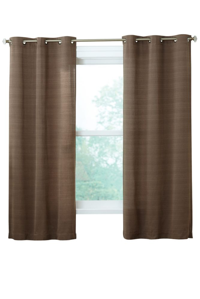 Ribbed texture Grommet, Brown, 42 Inches X 84 Inches