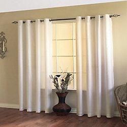 Home Decorators Collection Milano Rideau à Oeillets Filtrant la Lumière 54 pouces largeur X 84 pouces longueur, Blanc