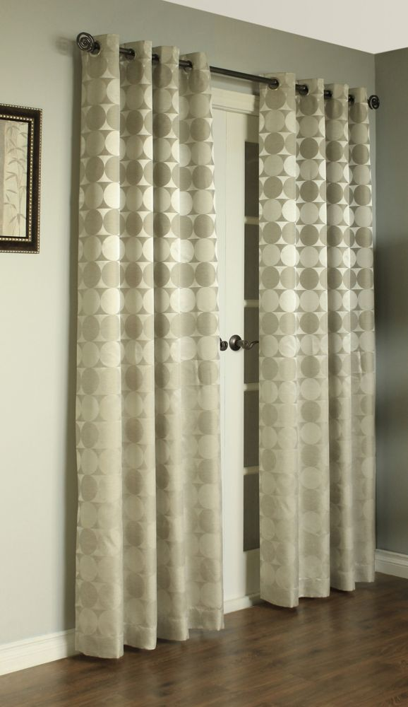 Hologram Curtain, Silver 52 Inches X 95 Inches