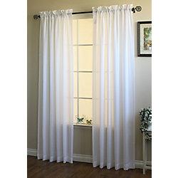 Habitat Herringbone Curtain, Cream - 52 Inches X 95 Inches