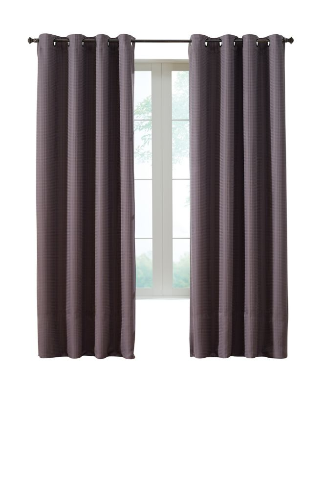 Darcy Insulated Curtain, Brown - 54 Inches X 95 Inches