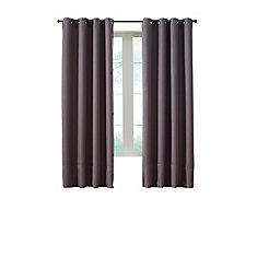 Darcy Insulated Curtain, Brown   54 Inches X 95 Inches