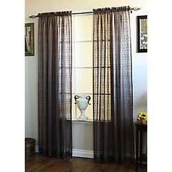 Habitat Curacao Curtain, Brown - 52 Inches X 84 Inches